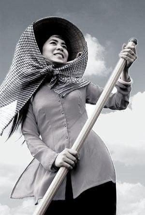 khăn rằn, chiếc khăn của nội