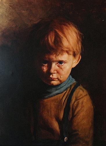 """Lời nguyền đáng sợ bên trong bức tranh """"cậu bé khóc"""""""