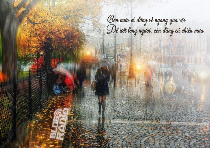 Thơ Radio: Mưa mùa thu giăng kín lối em về