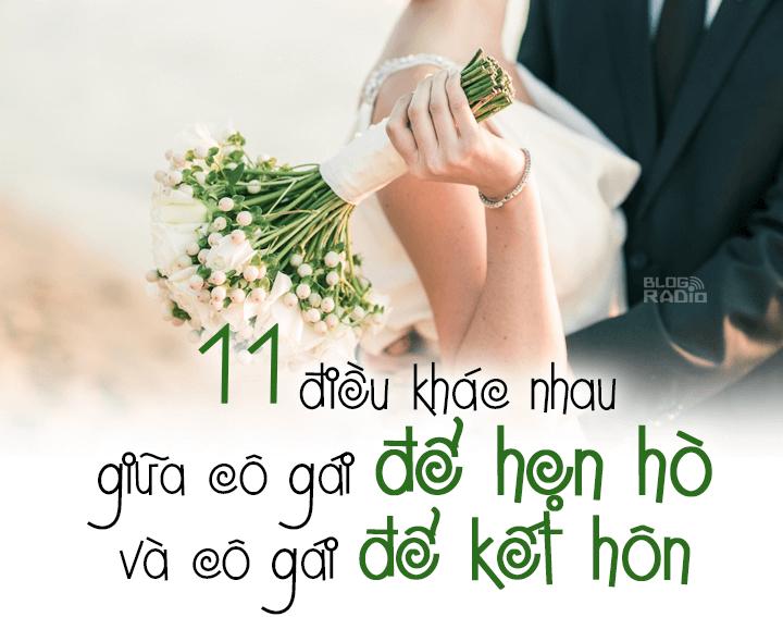 11 điều khác nhau giữa cô gái để hẹn hò và cô gái để kết h