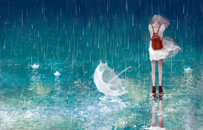 Đừng khóc dưới trời mưa