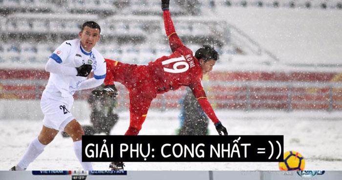Ảnh chế siêu lầy lội về U23 Việt Nam