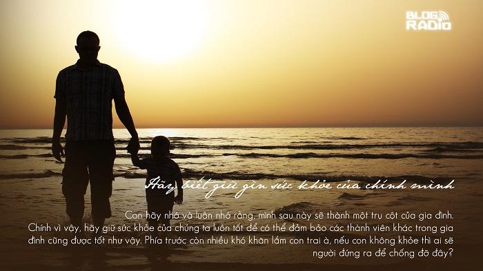 blog radio, Lời cha dạy con trai để có cuộc sống hạnh phúc