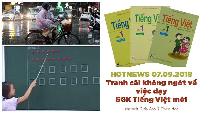 Hotnews: Tranh cãi không ngớt về việc dạy SGK Tiếng Việt mới