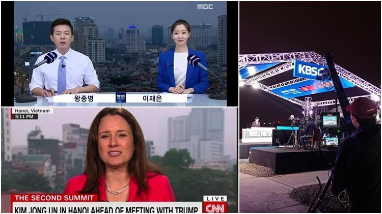 MBC, KBS, CNN và nhiều nhà đài 'chơi lớn' với trường quay trên nóc nhà cao tầng tại Hà Nội, truyền hình trực tiếp về Thượng đỉnh Mỹ - Triều