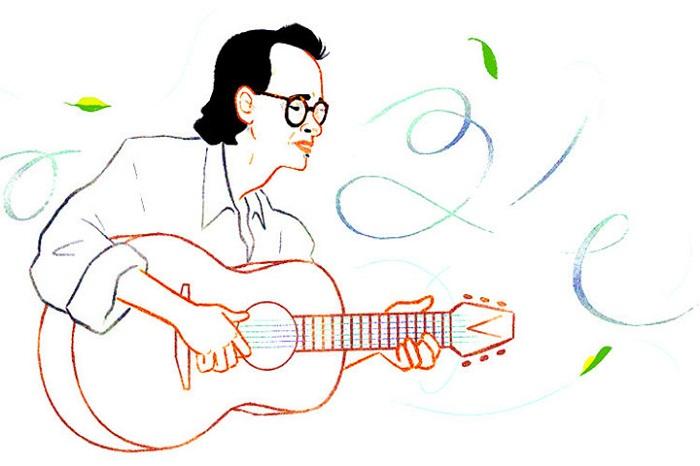 Trịnh Công Sơn trở thành nghệ sĩ Việt Nam đầu tiên xuất hiện trên Google Doodle