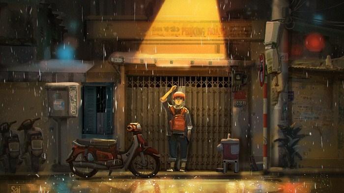 Chơi vơi giữa đêm mưa Sài Gòn